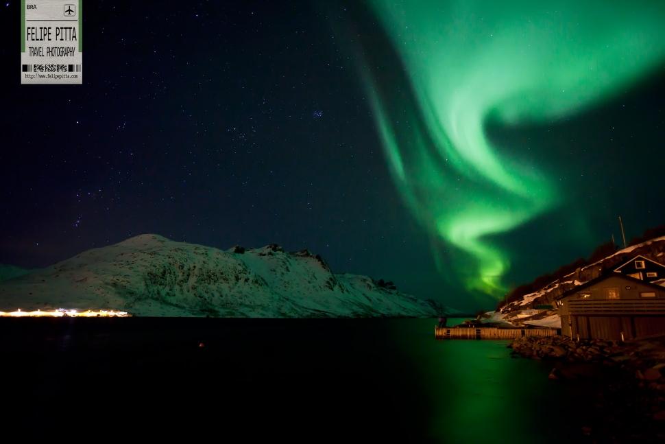 Aurora Borealis Northern Lights Tromso Norway Ersfjordbotn