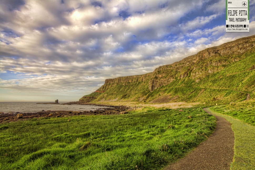 Giants Causeway Road in Northern Ireland