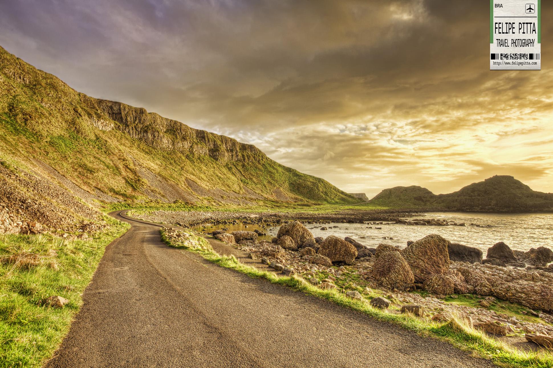 Giants Causeway Road in Northern Ireland