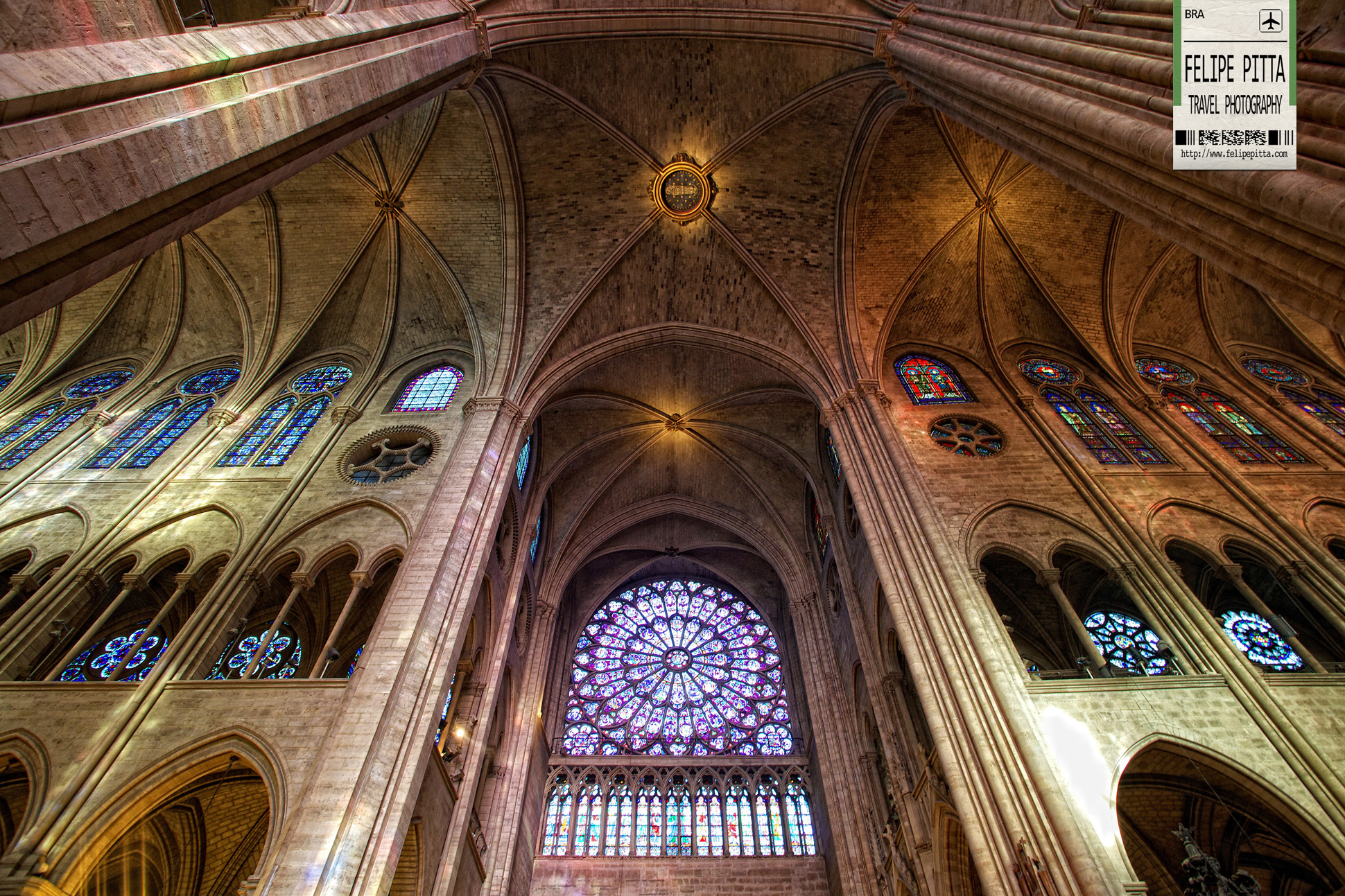 Notre Dame Cathedral Interior Paris France
