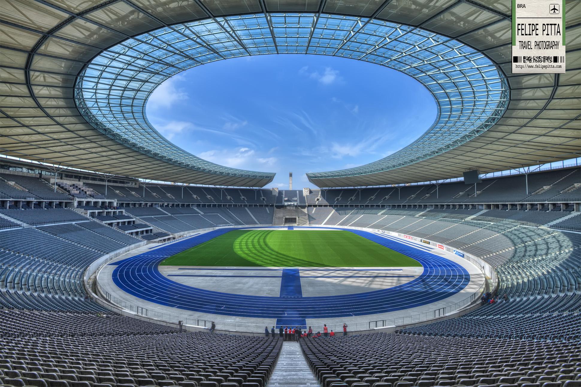 Interior of the Olympic Stadium Berlin Germany
