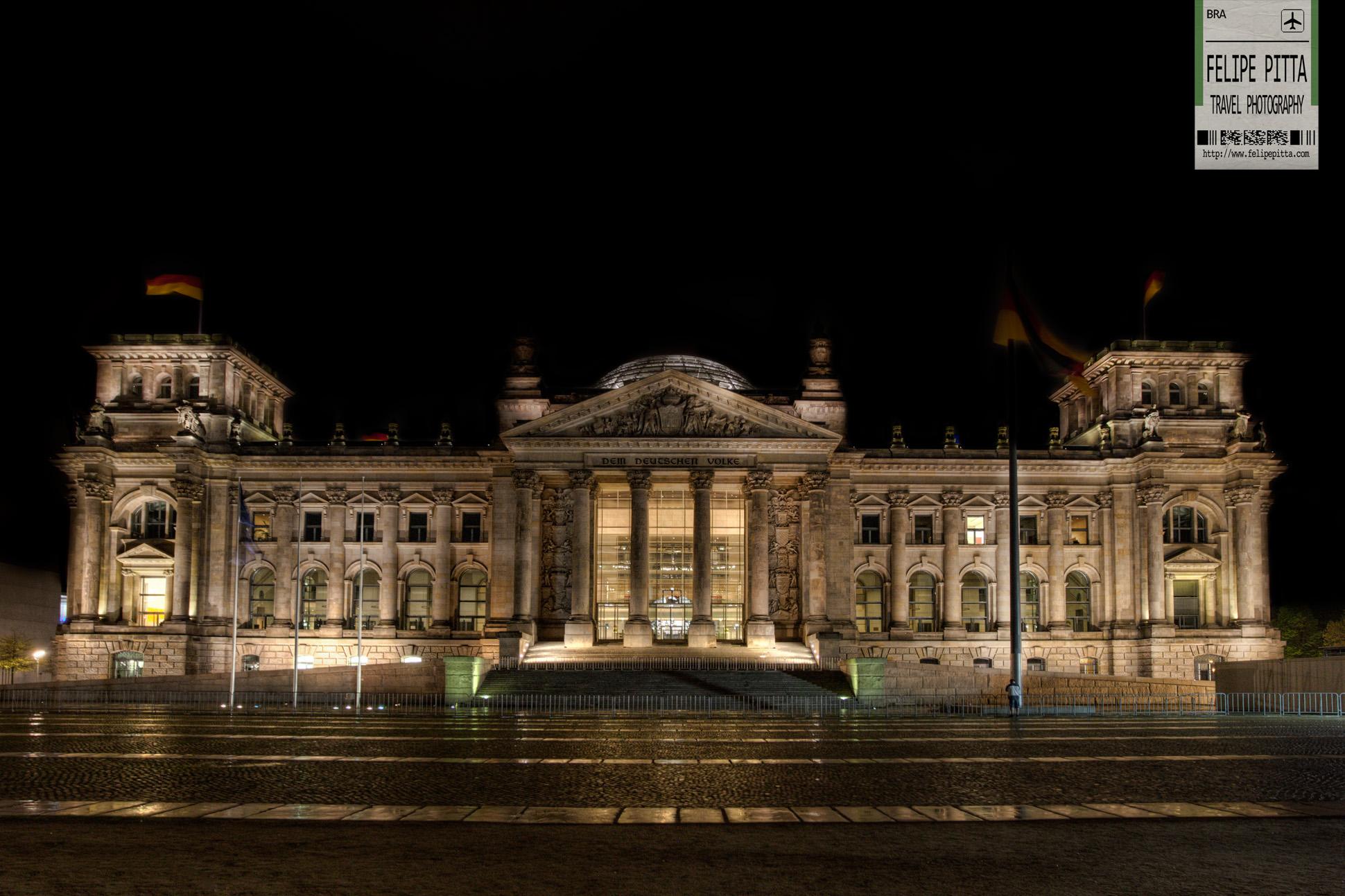 The Reichstag in Berlin German Parliament Night