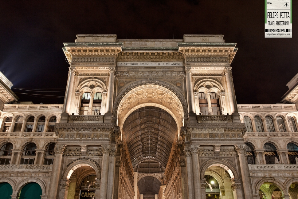 Galleria Vittorio Emanuele II Milan Italy Facade