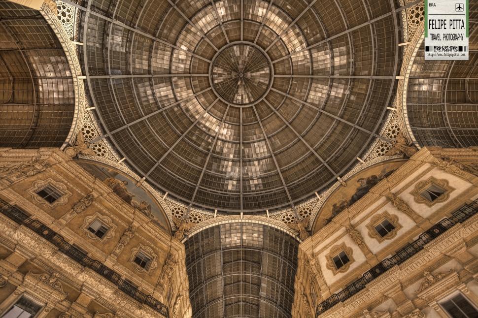 Galleria Vittorio Emanuele II Milan Italy Interior Night