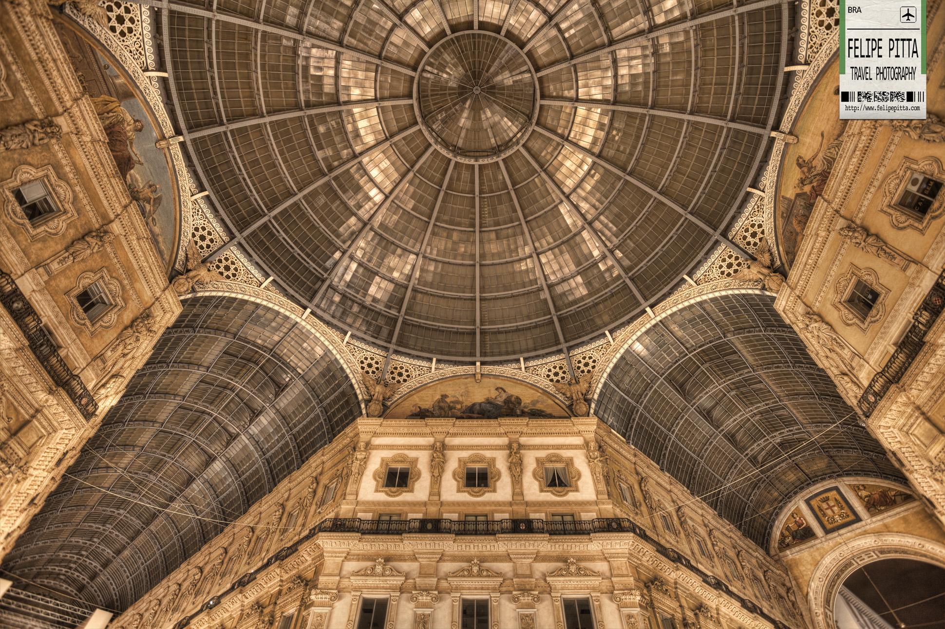The Glass Dome of Galleria Vittorio Emanuele II