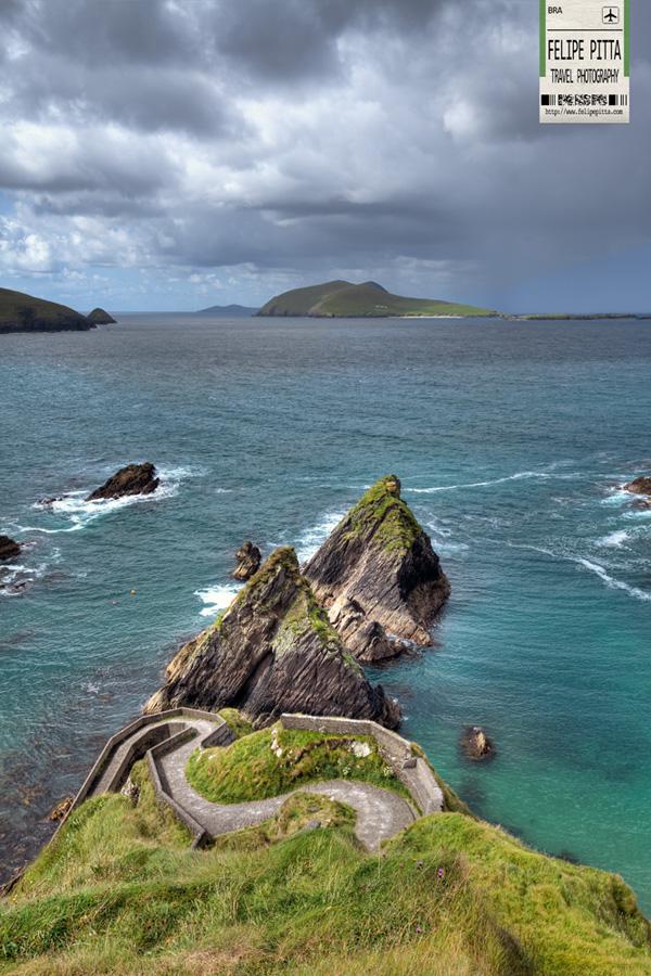 The Blasket Islands from Dunquin Pier Dingle Peninsula County Kerry Ireland