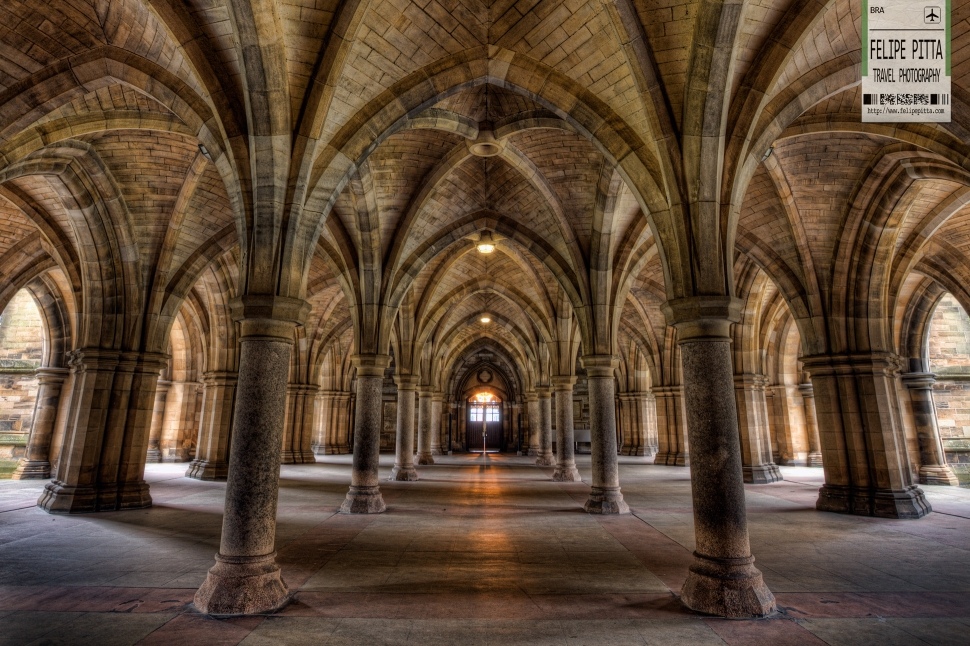 Glasgow University Cloisters Scotland