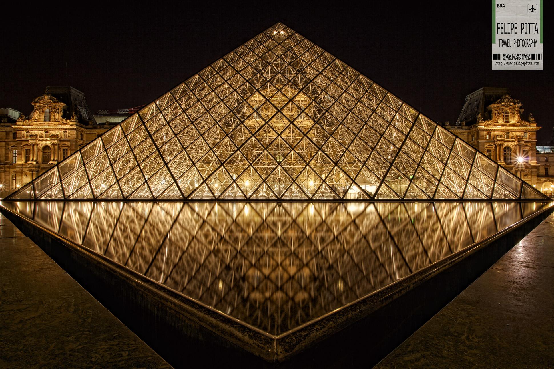 Louvre Museum Pyramid Paris France