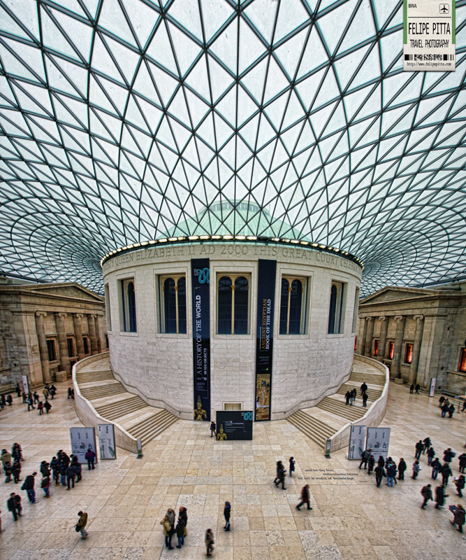 Queen Elizabeth II Great Court British Museum London England UK