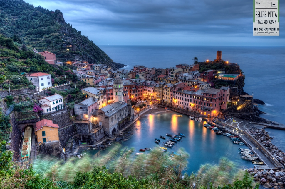 Vernazza Cinque Terre Italy Dusk