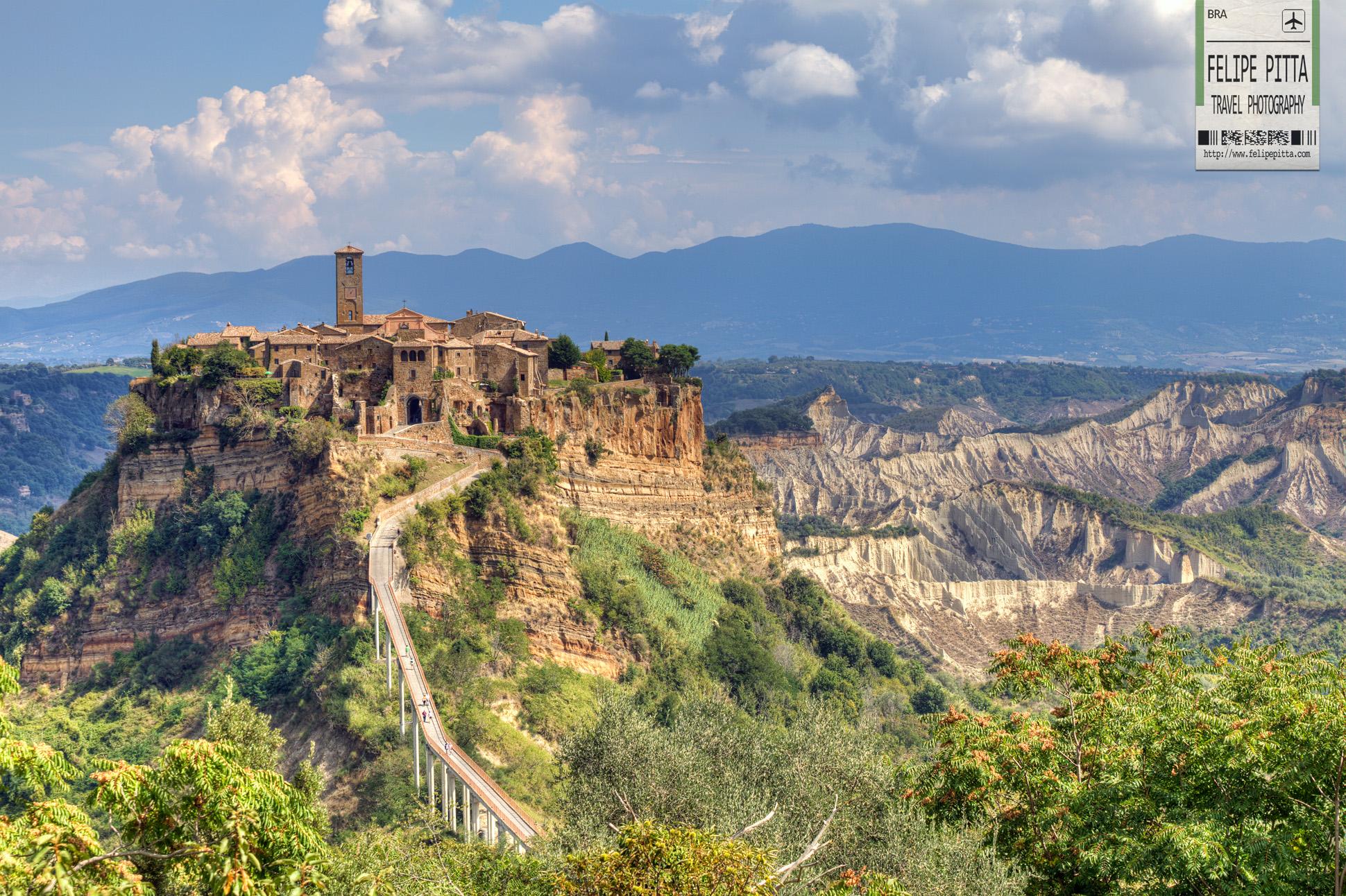 Civita di Bagnoregio Hill Cliff Mountain Italy