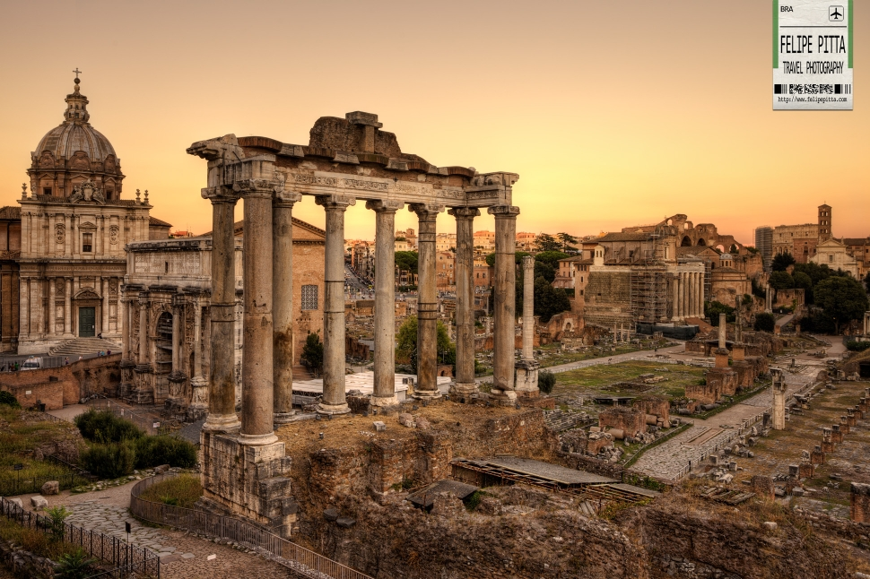 An epic sunset at the Roman Forum |Rome, Italy » Felipe ...