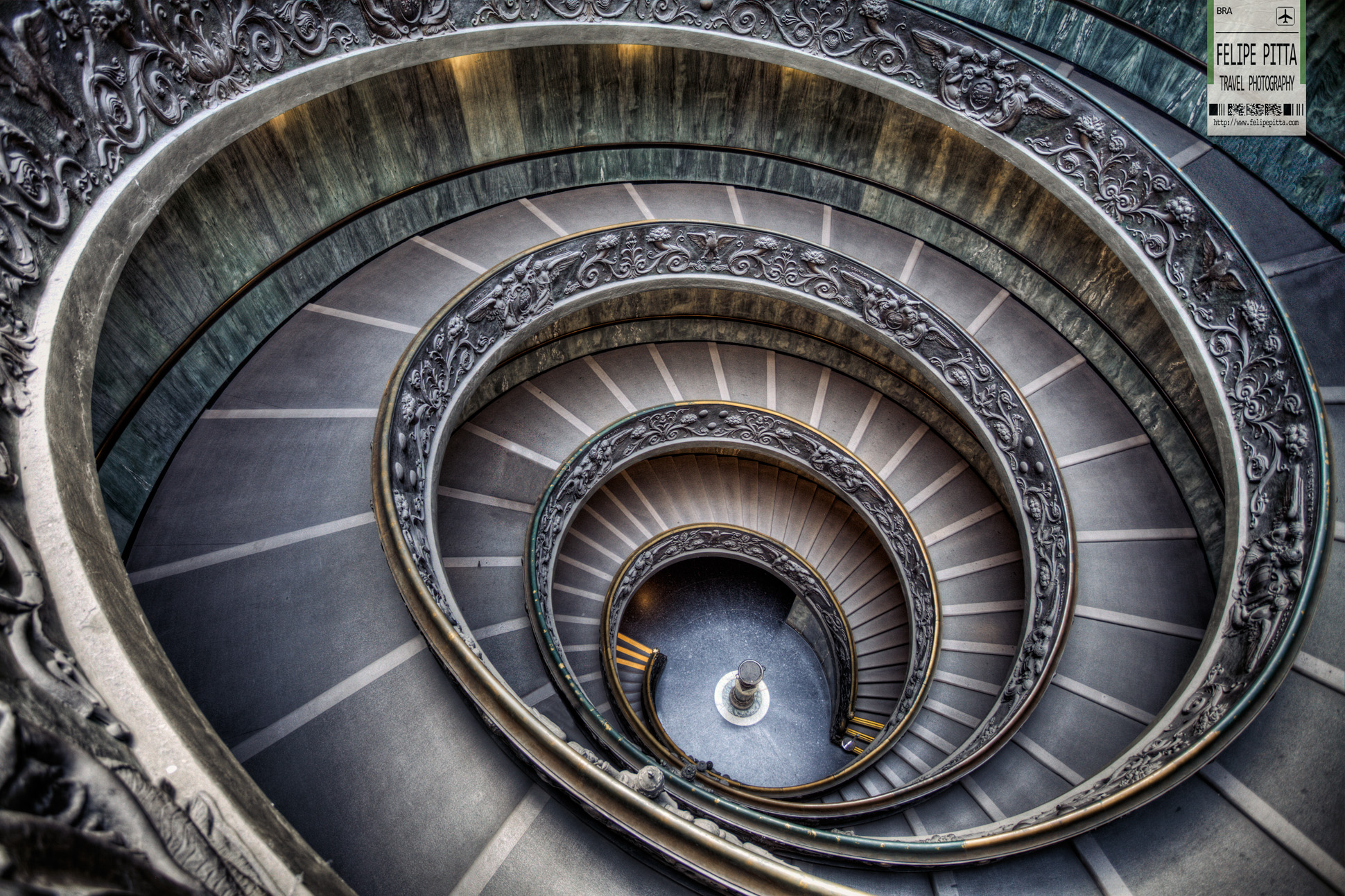 Bramante Staircase Vatican Museum Italy