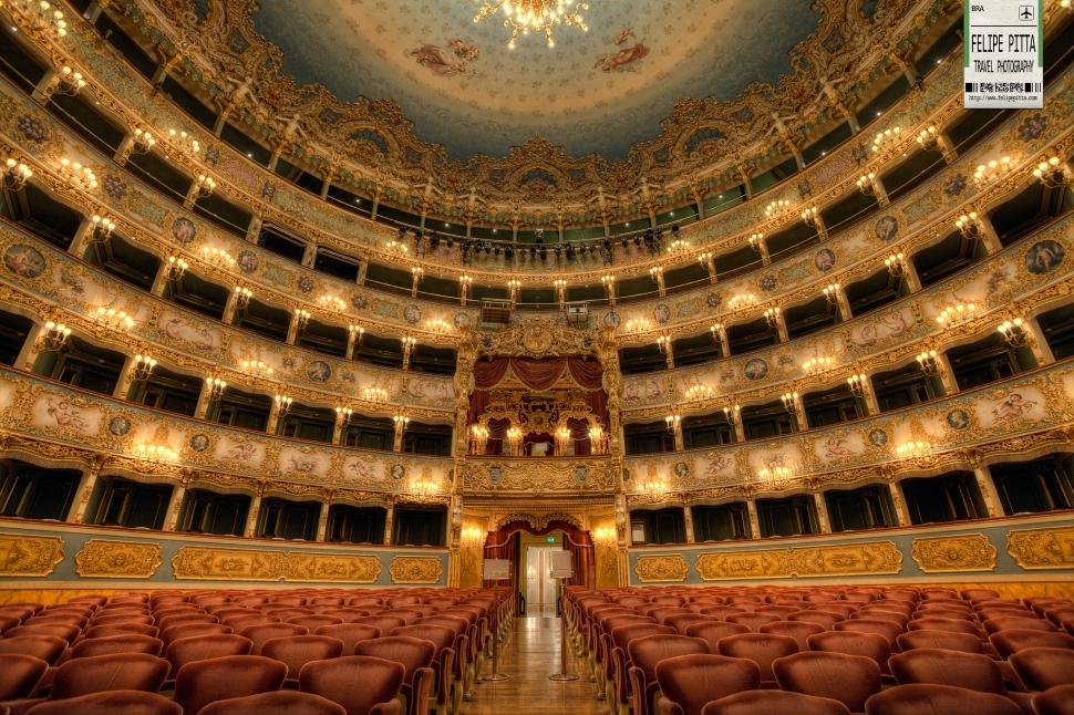 Teatro La Fenice Venice Italy Interior