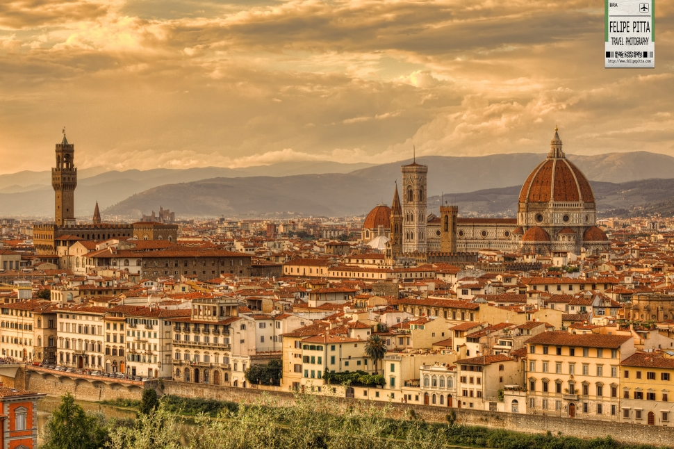 Italian Florence: A Sunset In Florence From Piazzale Michelangelo » Felipe