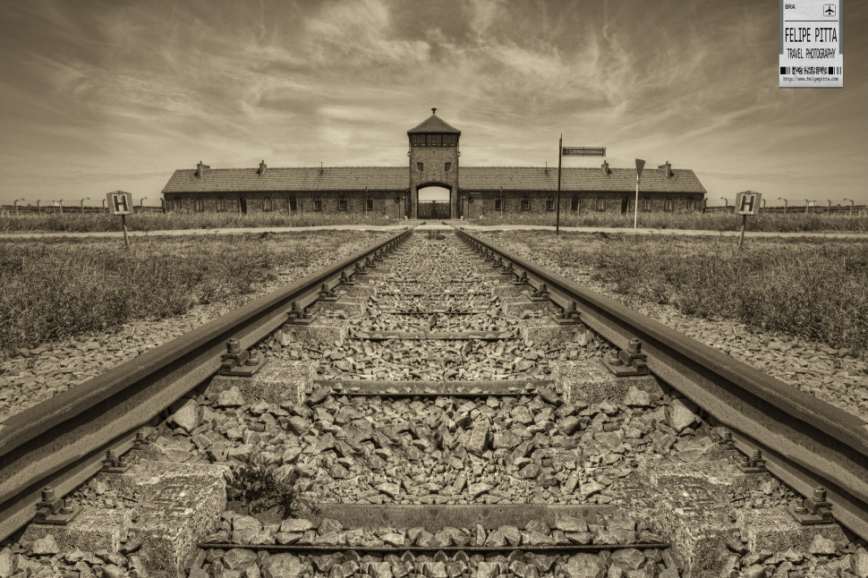 The Death Gate of the Auschwitz II - Birkenau Camp Oświęcim