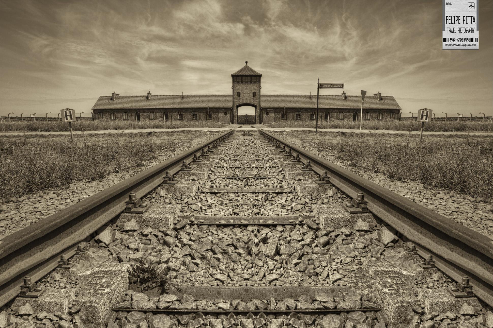 The Death Gate of the Auschwitz II - Birkenau Camp Oświęcim